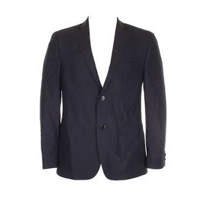 Alfani Mens Navy Blue Black Printed Slim Blazer
